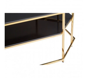 Premier Housewares Arezzo Black Tempered Glass Coffee Table