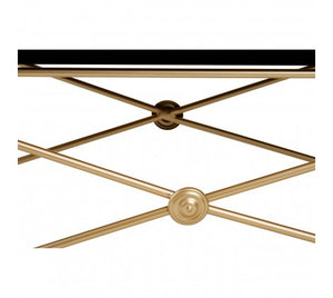 Premier Housewares Monroe Gold Finish Coffee Table
