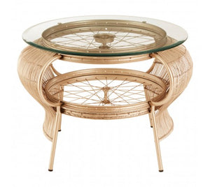 Premier Housewares Mantis Champagne Gold Finish Table