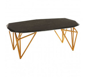 Premier Housewares Relic Black Marble Coffee Table