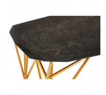 Load image into Gallery viewer, Premier Housewares Relic Black Marble Coffee Table