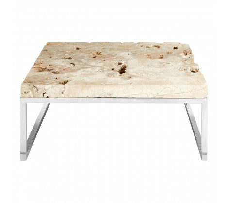Premier Housewares Relic Coffee Table With Cheese Stone Top