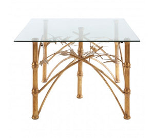 Premier Housewares Zariah Table With Bamboo Design Legs