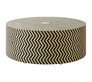Premier Housewares Fusion Buffalo Bone Round Coffee Table