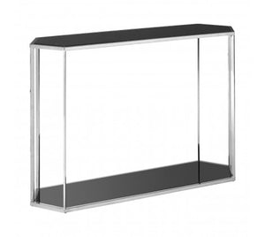 Premier Housewares Piermount Silver Frame Console Table