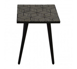 Premier Housewares Textured Side Table With Angular Base