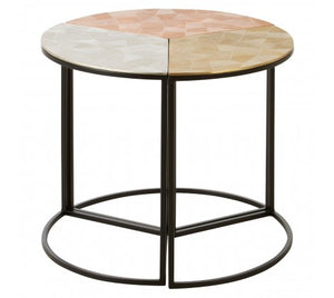 Premier Housewares Mirano Set Of 3 Assorted Round Side Tables