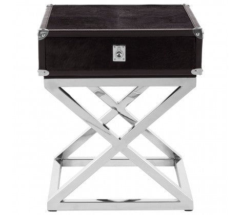 Premier Housewares Kensington Townhouse Cross Base Side Table