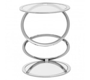 Premier Housewares Oria Clear Glass End Table