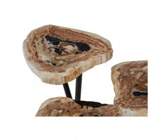 Load image into Gallery viewer, Premier Housewares Relic Side Table With Petrified Wood Top