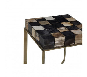 Premier Housewares Relic Side Table With Brass Finish