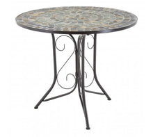 Load image into Gallery viewer, Premier Housewares Amalfi Blue/Stone Mosaic 4 Chairs Table Set
