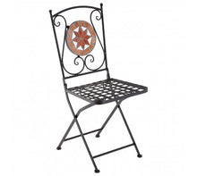 Load image into Gallery viewer, Premier Housewares Amalfi Terracotta Mosaic 4 Chairs Table Set