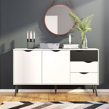 Load image into Gallery viewer, Furniture To Go Oslo Sideboard - Large - 3 Drawers 2 Doors in White and Black Matt
