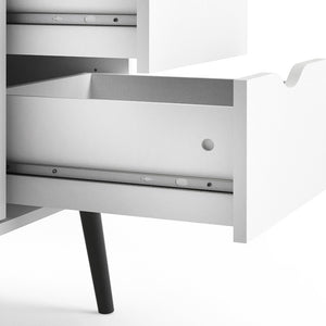 Furniture To Go Oslo Sideboard - Large - 3 Drawers 2 Doors in White and Black Matt