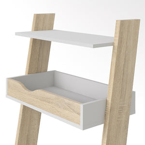 Furniture To Go Oslo Leaning Desk in White and Oak