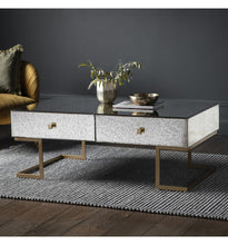 Load image into Gallery viewer, Gallery Direct Amberley Coffee Table 4 Drawer With Metal Legs - kudo Lounge