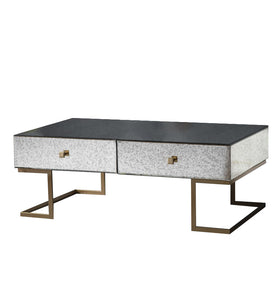 Gallery Direct Amberley Coffee Table 4 Drawer With Metal Legs - kudo Lounge