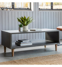 Load image into Gallery viewer, Gallery Direct Bergen Cube Coffee Table Faux Concrete Finish weathered legs - kudo Lounge