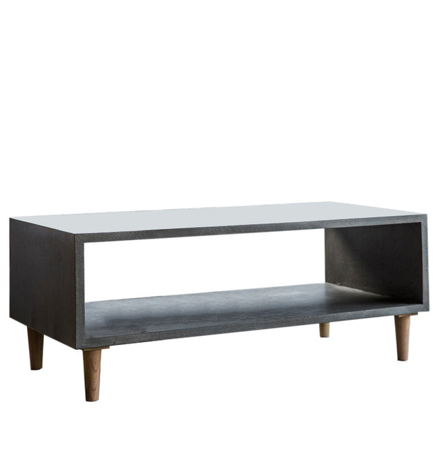 Gallery Direct Bergen Cube Coffee Table Faux Concrete Finish weathered legs - kudo Lounge
