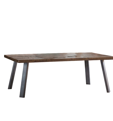Gallery Direct Camden Coffee Table Acacia Tabletop Rustic metal legs - kudo Lounge