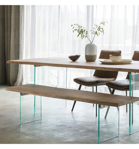 Gallery Direct Ferndale Dining Table Wooden Industrial Chic Finish - kudo Lounge