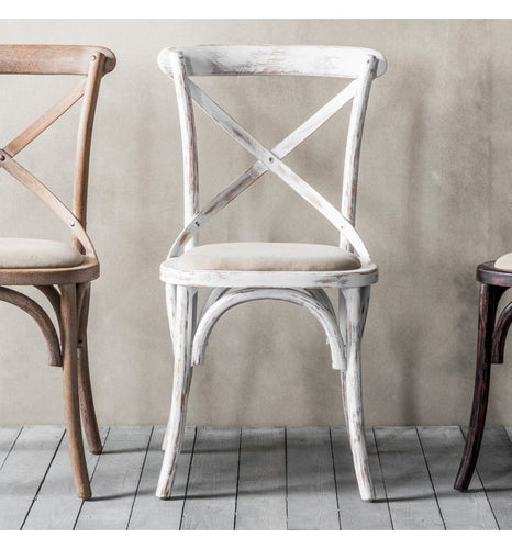 Gallery Direct Café Chair White (2pk) - kudo Lounge