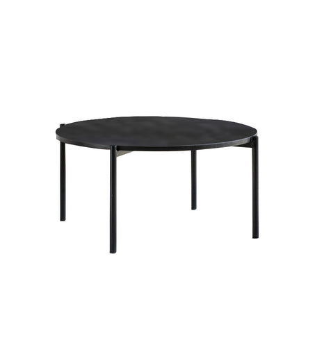 Gallery Direct Round Carbury Coffee Table Black Top Metal Legs - kudo Lounge