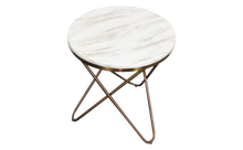 Load image into Gallery viewer, Else Side Table Striking Rose Gold Legs Luxurious Marble Top - kudo Lounge