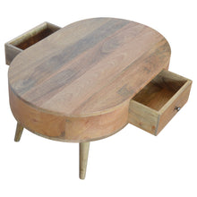 Load image into Gallery viewer, Artisan Solid Mango Wood London Style Coffee Table Brass Handles - kudo Lounge