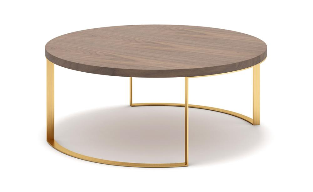 Distinction Furniture Lunato Coffee Table - Walnut