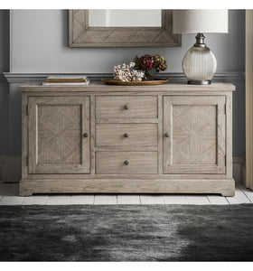 Gallery Direct Mustique Wood 2 Door 3 Drawer Sideboard With Shelf - kudo Lounge