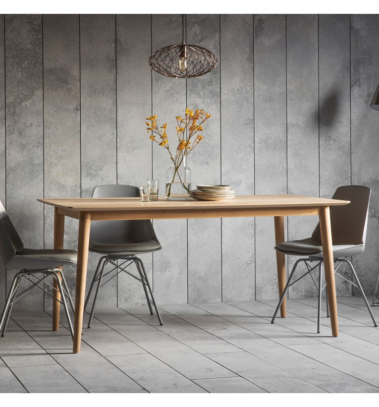 Gallery Direct Milano Wood Dining Table Rustic Oak Veneer Finish - kudo Lounge
