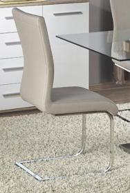 Heartlands Furniture Simone HG Dining Table White & Nat. with Clear Glass Top - kudo Lounge