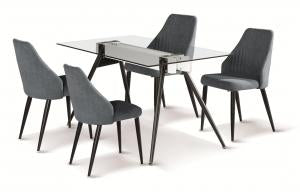 Heartlands Furniture Tessa Dining Table with Black Metal Legs - kudo Lounge