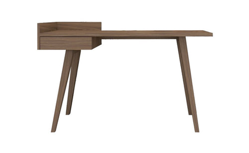 Ophelia wooden Desk with Smooth Walnut Finish Angled Legs - kudo Lounge