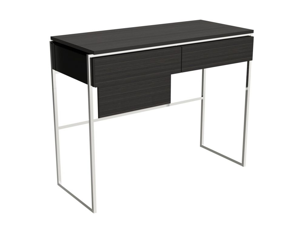 Gillmore FEDERICO Dressing Table Chrome Finish Twin Drawers - kudo Lounge