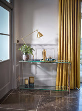 Load image into Gallery viewer, Gilmore FEDERICO Narrow Console Table Black Stained oak veneer top brushed brass finish frame - kudo Lounge