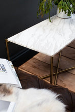 Load image into Gallery viewer, Gillmore IRIS Large Console Table Black Marquina Marble Top Satin Brass Base - kudo Lounge