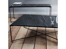 Load image into Gallery viewer, Gillmore Iris Rectangular Marble Top Metal Frame Coffee Table