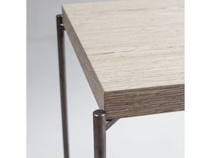 Gillmore Iris Square Metal Frame Side Table With Drawer