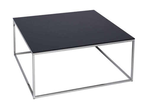 illmore Kensal Square Glass Top Metal Frame Coffee Table