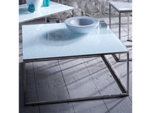 Load image into Gallery viewer, illmore Kensal Square Glass Top Metal Frame Coffee Table