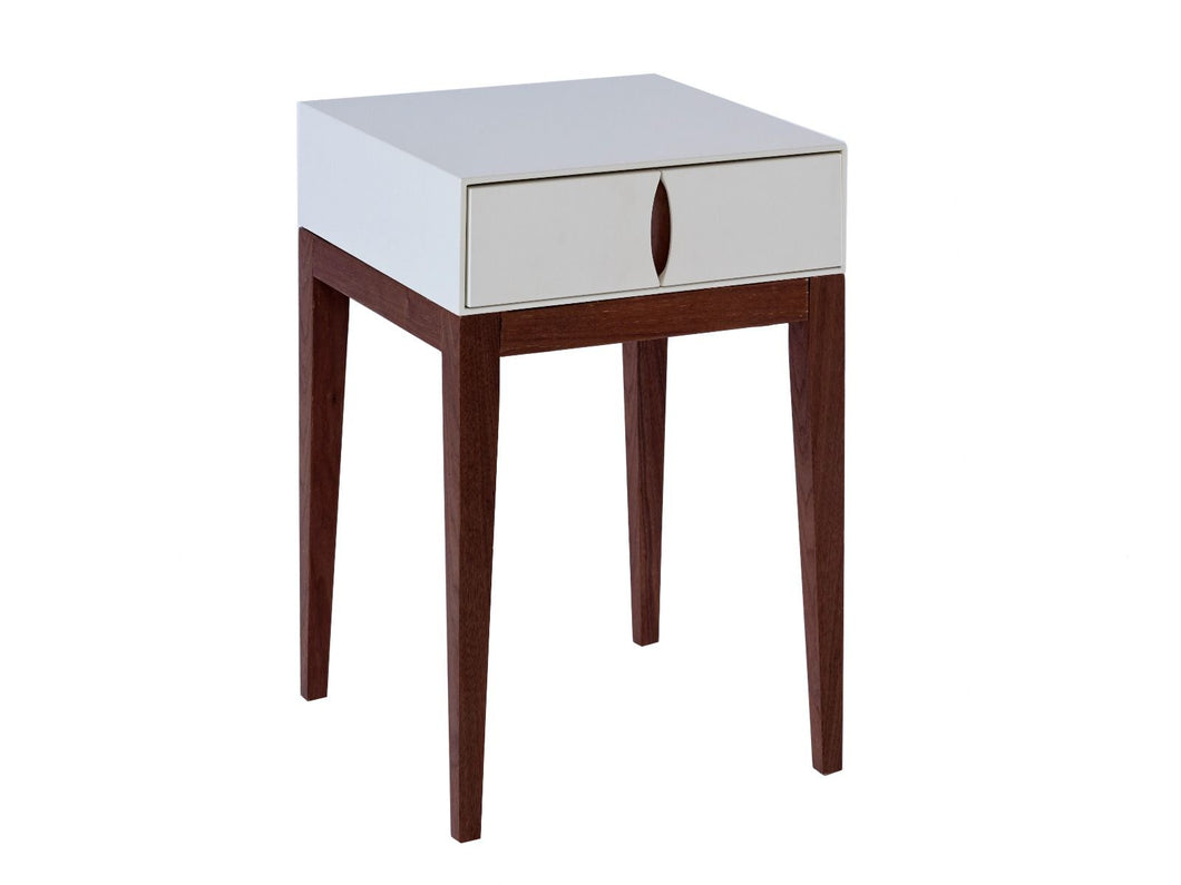 Gillmore LUX Small Square Side Table Single Draw Wood Base Frame - kudo Lounge