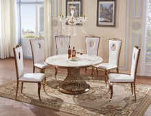 Load image into Gallery viewer, Heartlands Furniture Pescara Marble Dining Table with Stainless Steel Base - kudo Lounge