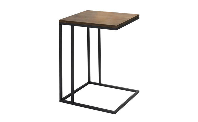 Cedro Side Table walnut veneer Top Smooth Grain Detailing - kudo Lounge