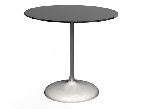 Gillmore SWAN SMALL Round Dining Table Black Chrome Column Concrete Base - kudo Lounge