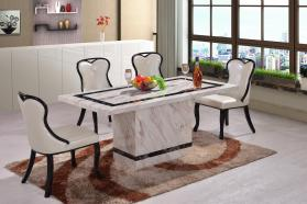 Heartlands Furniture Calgary Marble Dining Table with Marble Base - kudo Lounge