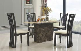 Heartlands Furniture Cincinnatti Marble Dining Table with Marble Base - kudo Lounge