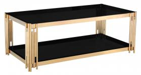 Heartlands Furniture Cleveland Glass Coffee Table Gold - kudo Lounge
